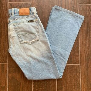 """Lucky Brand Dungarees Vintage 90's Distressed 28"""""""